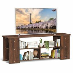 "Wood Storage Cabinet TV Stand for TVs up to 50""-Coffee"