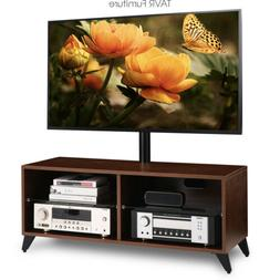 Wood TV Stand Console with Swivel Mount for 32-65 inch TVs ,