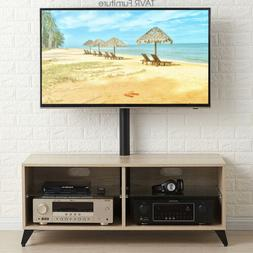 Wood TV Stand Storage Console with Swivel Mount for 32-65 in